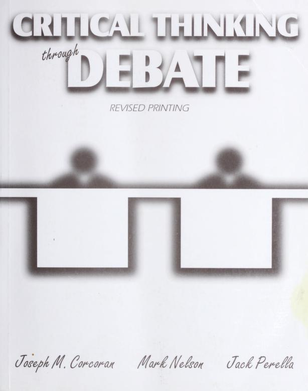 Critical thinking through debate by Joseph Corcoran