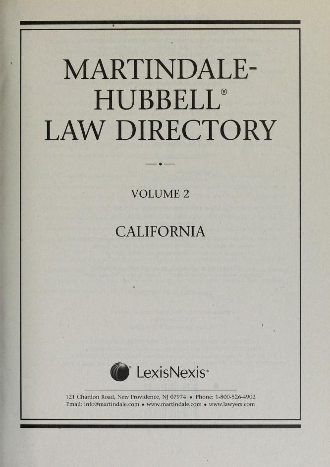 Martindale-Hubbell law directory by James B. Martindale