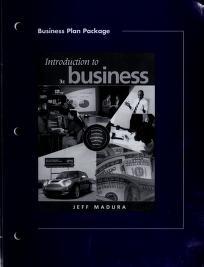 Cover of: Pkg Bus Plan-Intro to Business | MADURA