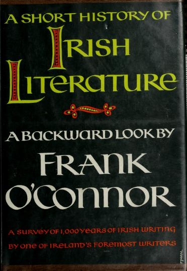 A short history of Irish literature by Frank O'Connor