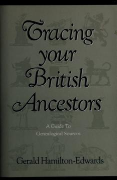 Cover of: Tracing your British ancestors; | Gerald Kenneth Savery Hamilton-Edwards